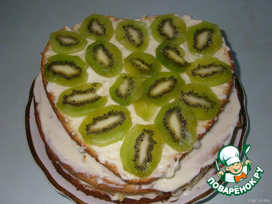 Бисквитный торт с фруктами Для любимой дочери