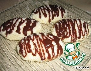 Bake 40-50минут at a temperature of 120g.  Melt chocolate, decorate cookies.