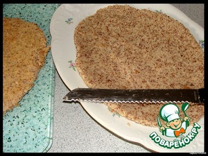 Cut lengthwise into 2 layer with a serrated knife (a regular round cake cut into 3 layers).