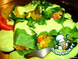 Теплые овощные рулетики – кулинарный рецепт