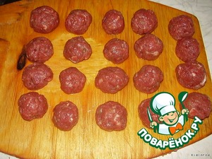 To form meatballs.