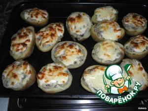 Запекать в духовке при температуре 200 гр. 10-15 мин. (главное - чтобы сыр не подгорел).