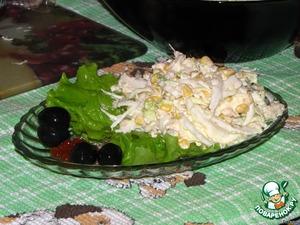 Салат из пекинской капусты с мясом криля – кулинарный рецепт