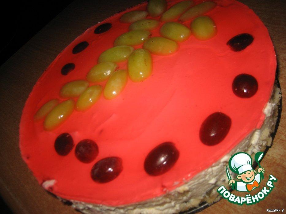 Виноградный торт без выпечки