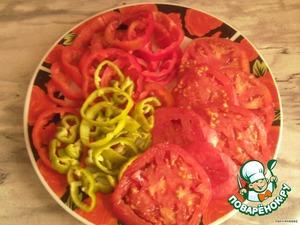 нарезаем овощи кольцами