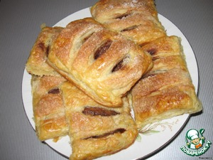 put in preheated to 175-200 degree oven,  bake for 40-50 minutes.  As soon as the dough will become Golden brown color, make sure that everything is ready, and serve.
