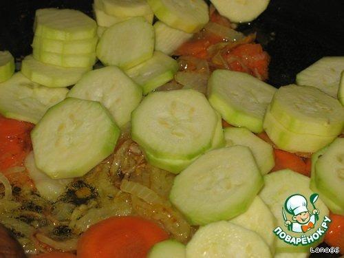 тушеные овощи с гречкой