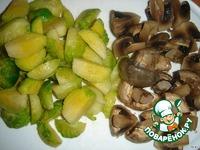 Салат с ветчиной, мандаринами и брюссельской капустой ингредиенты