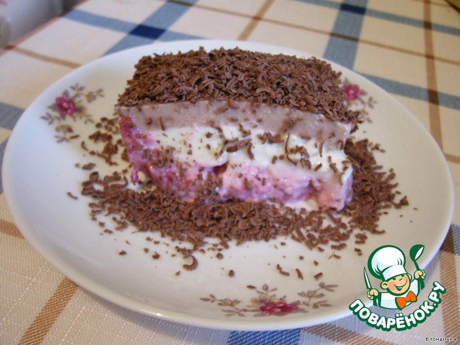 Десерт творожно-полосатый