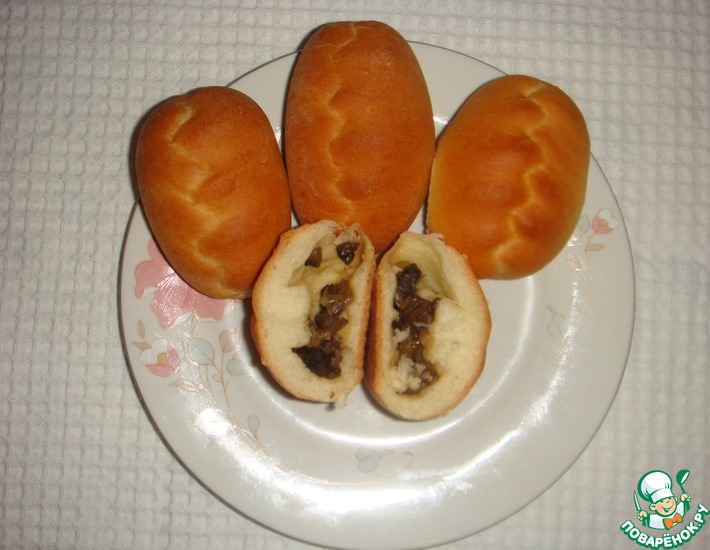Рецепт: Пирожки из дрожжевого теста на кефире