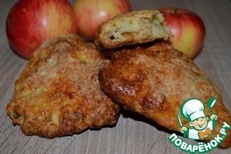 Рецепт: Сконы с запеченным яблоком и сыром