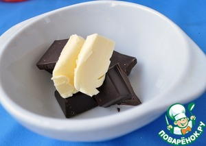 Chocolate with a little oil to heat in a microwave oven.