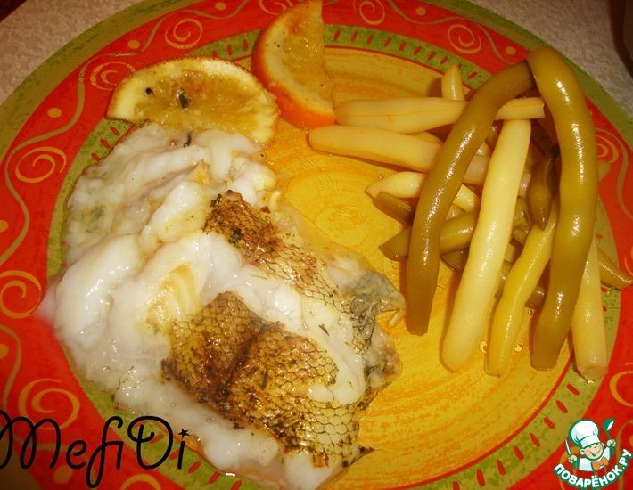 Рецепт: Макрорус, запеченный на апельсинах