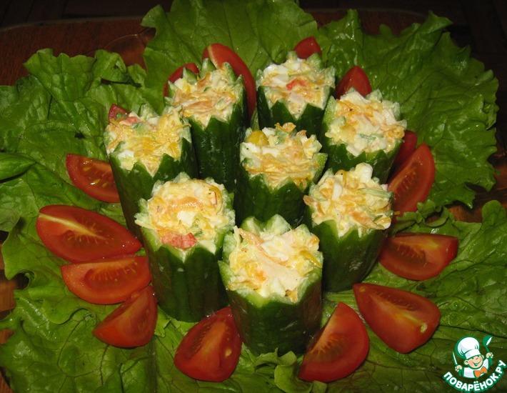 Рецепт: Салат Новогодние свечи