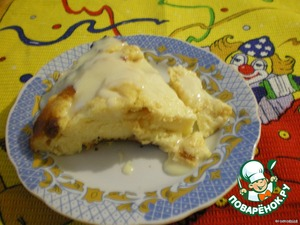 After this time it turns out so yummy.(Sorry forgot to take a picture of a casserole,leaving only this piece:-D ).
