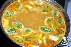 Положить штрули в суп. Как всплывут, варить 3 минуты