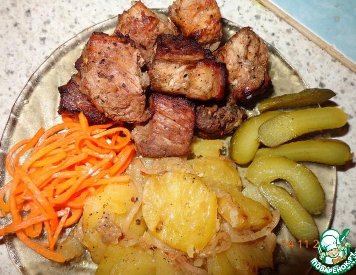 Рецепт: Мясо в гранатовом соке