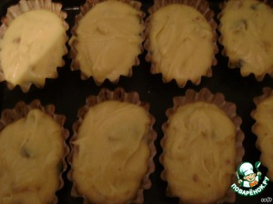 Muffin tins liberally with butter.  The dough should fill the tins no more than 2/3.