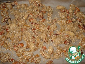 Lay out nuts on a sheet of parchment in a single layer and bake for 20 minutes.