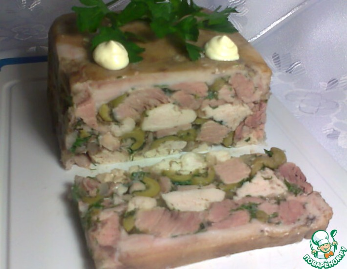 Рецепт: Террин из свиной рульки