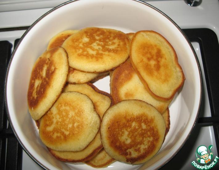 Рецепт: Бисквитные оладьи