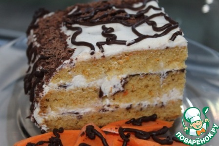 """Майонезно-морковно-творожный торт """"Искушение"""""""