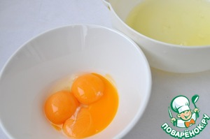 Separate the whites from the yolks.