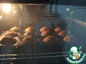 3. Bake preheated oven at t=180 for about 25-30 min.