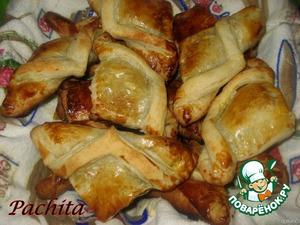 Слойки с куриной печенью – кулинарный рецепт