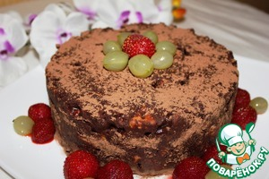 Before serving, sprinkle with cocoa powder and decorate with berries, mint or nuts. Bon appetit!