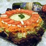 Многослойный витаминный салат Зимний цветок