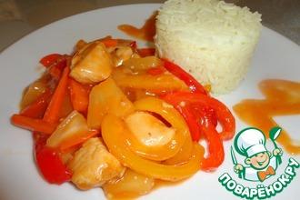 Рецепт: Курица по-китайски с рисом басмати