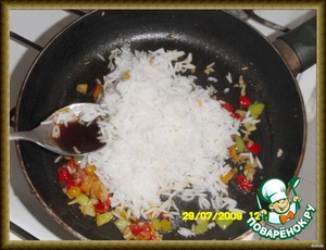 Pre-cooked rice,and soy sauce and lightly мин5-7 all