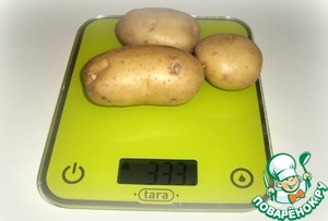 Wash potatoes, peel and boil until tender in unsalted water.