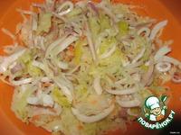 Рисовые рулетики с капустой и кальмарами ингредиенты