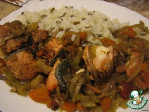 Подавать горячей, с простым гарниром, очень хорошо с рисом.       Приятного аппетита!