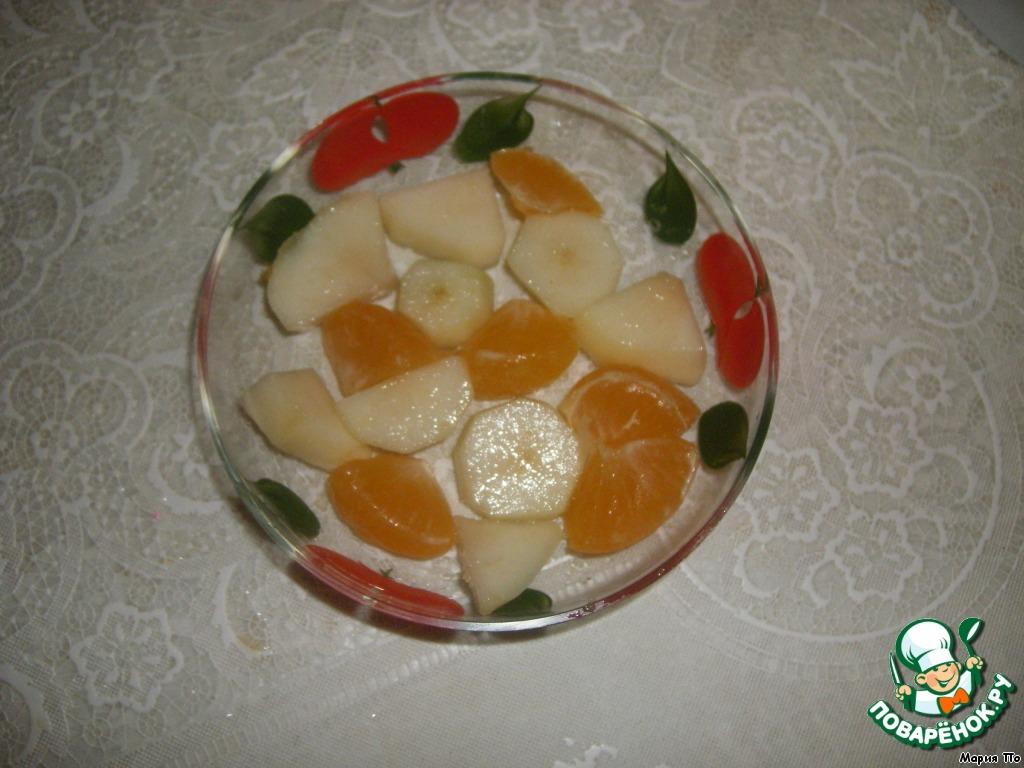 Сливочное суфле с фруктами