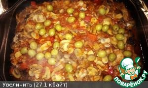40-45 min. open and add the olives stuffed with Piri-Piri, and cover for another 15 min.   Get...