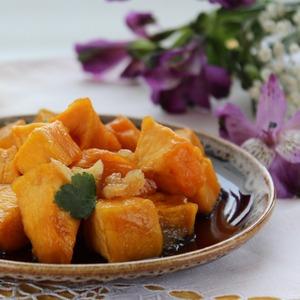 So, what have we got?  First - perfumed lemon-caramel pumpkin.