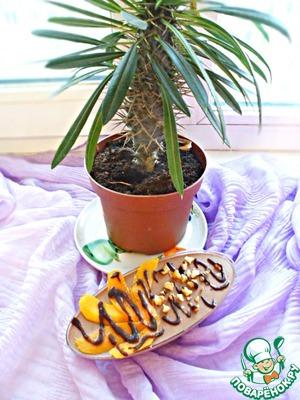 Из экзотического дополнения к натюрморту у меня только такая пальма:))
