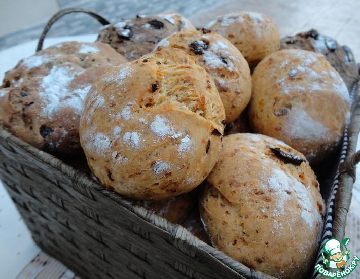 Рецепт: Ассорти маленьких хлебушков с разными вкусами