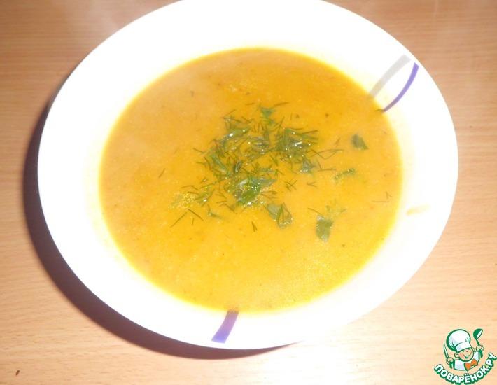Рецепт: Тыквенный кремовый суп