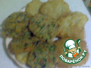 Spread on a plate. I got 3 servings of 4 pieces.  And with sour cream-the cool,COOL!  All a pleasant appetite!  Cook for health!