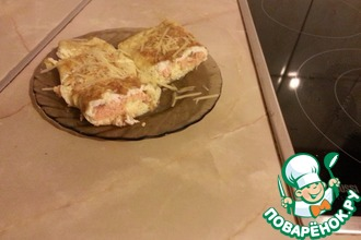 Рецепт: Сытный завтрак Омлет с семгой