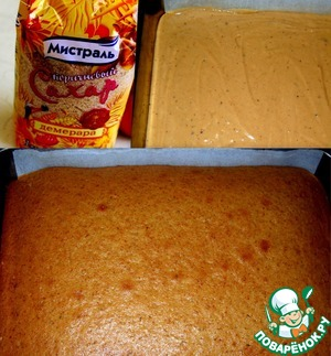 In a separate bowl mix all dry ingredients.  Beat butter with sugar, egg and honey. Add flour mixture and yogurt into 2-3 doses.  Pour the batter into the baking dish and place in oven (180*C) for about 20-30 min.  The finished cake to cool.