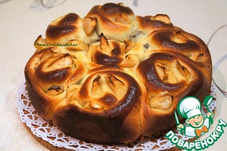 Рецепт: Яблочный пирог с тройной начинкой