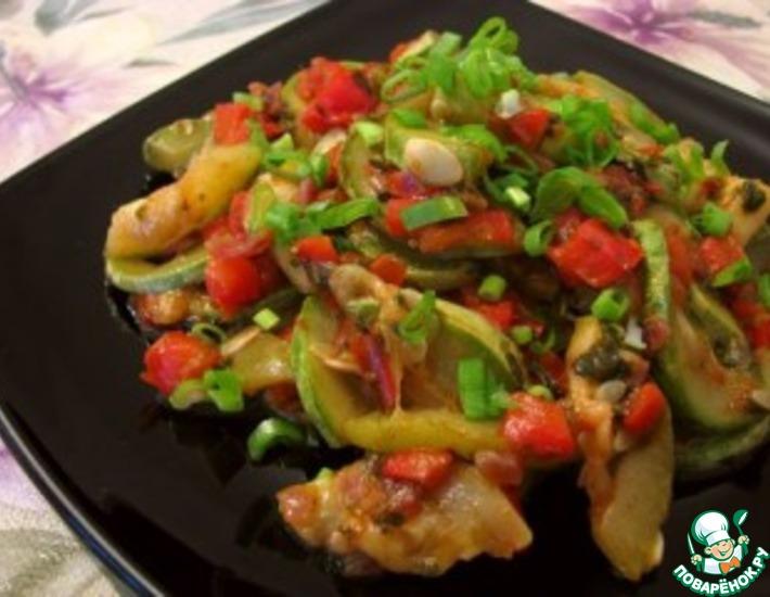 Рецепт: Кабачки по-гречески