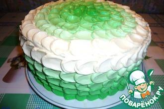Рецепт: Украшение торта Лепестки