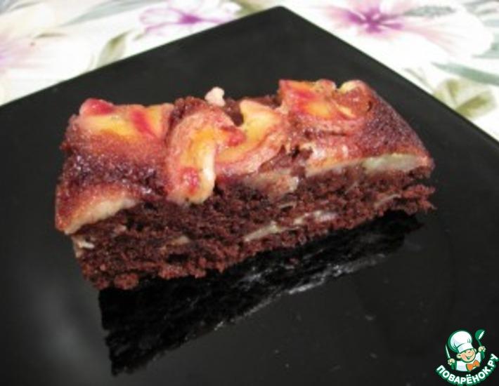 Рецепт: Пирожное Шоколадно-банановое наслаждение
