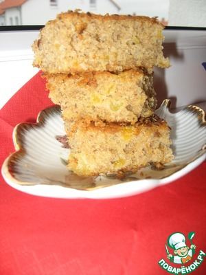 The cake turns out very delicate and crumbly with a sweet apricot taste.